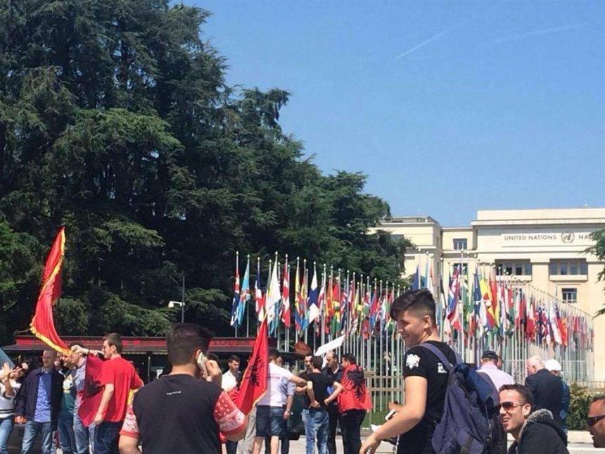 Në Gjenevë, para OKB-së po protestohet për Kumanovën