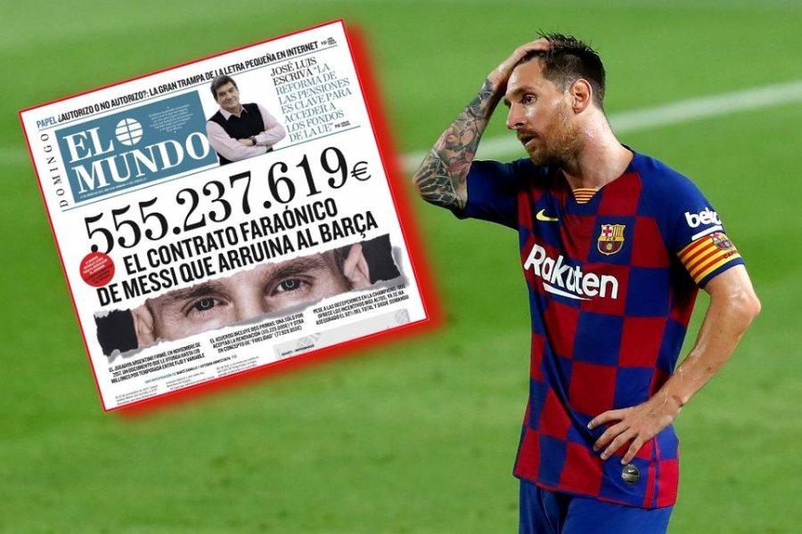 مبلغ سرگیجه ای که بارسلونا به لیونل مسی بدهکار است ، مشخص شد