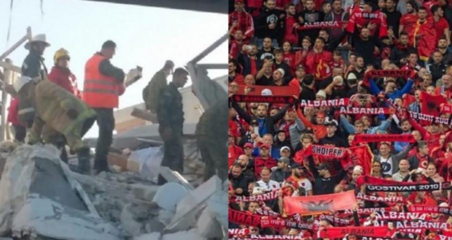 طرفداران قرمز و سیاه با حرکتی خارق العاده دو مرکز بهداشتی که از زلزله در سال 2019 سقوط کرده بودند را دوباره بازسازی می کنند.