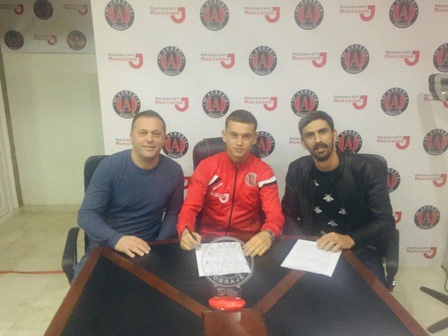 Drin Zhegrova پس از امضای قرارداد با Arberia: من بسیار خوشحالم ، بهترین تلاش خود را برای باشگاه می کنم