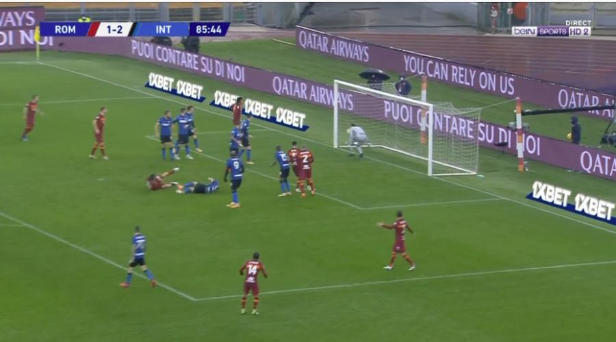 اینتر شوکه شده است ، رم در پایان بازی گل تساوی را به ثمر رساند