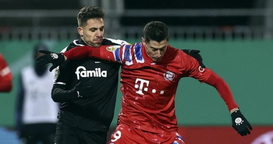 به طور غیر منتظره بایرن مونیخ توسط تیم دسته دوم از جام آلمان حذف شد