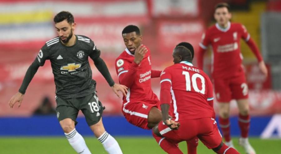 لیورپول و منچستر یونایتد در یک امتیاز توافق دارند ، ژردان شقیری بیش از 70 دقیقه بازی کرد